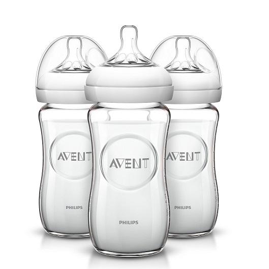 【中亚Prime会员】Philips Avent 飞利浦 新安怡 天然玻璃奶瓶 240ml*3件装 到手价116元