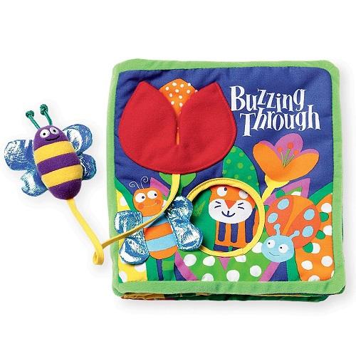 【中亚Prime会员】Manhattan Toy 曼哈顿玩具 带系绳玩具 蜜蜂与花丛布面童话书 到手价91元