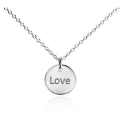 "Mini ""Love"" Pendant 迷你""Love""純銀吊墜 $23"