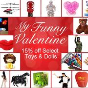 Aliexpress 情人節促銷: 部分玩具玩偶可享15% OFF   買滿$100減$5