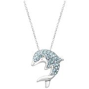 水藍色可愛小海豚項鏈 $24(約168元)