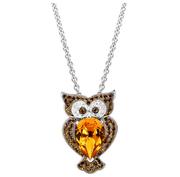 可愛施華洛世奇水晶貓頭鷹項鏈 $39(約273元)