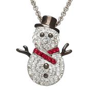 施華洛世奇水晶元素可愛雪人項鏈 $29(約202元)