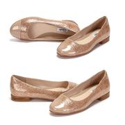 【德亞直郵】Clarks 樂其 Festival Gold 亮面芭蕾鞋 26.99歐(約210元)