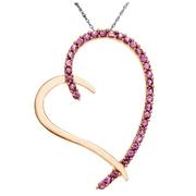 櫻花粉色藍寶石心形吊墜 $169(約1180元)
