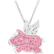 Crystaluxe 施華洛世奇元素粉紅小飛豬項鏈 $19(約133元)