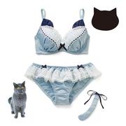 Felissimo 萌系貓咪內衣3件套 多種可選 4204日元(約274元)