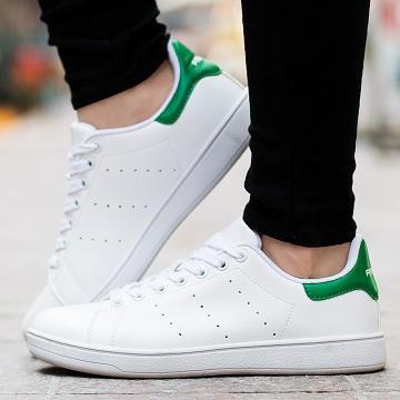 爆款特價!Adidas 阿迪達斯 Stan Smith 經典綠尾小白鞋