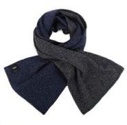春节送礼,体面过人!FENDI 芬迪 VIVID 羊毛围巾 蓝色/黑色 $99.56 (约691元)