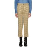 低至3折!Miu Miu  黄色格纹长裤 $260(约1897元)