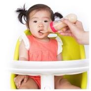 【中亚Prime会员】Nuby 努比 硅胶挤压式婴儿辅食勺