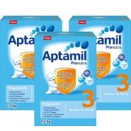 新到货,保质期到2018年6月!Aptamil 爱他美 婴幼儿奶粉 3段(10月以上) 1.2kg*3盒