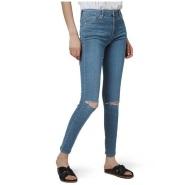 Topshop 女士修身款破洞牛仔裤