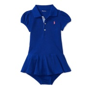 Ralph Lauren 拉夫·劳伦 女宝宝纯棉短袖连衣裙 $19.35(约140元)