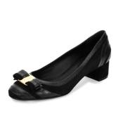 黄金码数 Salvatore Ferragamo 鳞片条纹粗跟女鞋$387(约2803元)