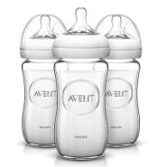 【中亚Prime会员】Philips AVENT 新安怡天然玻璃奶瓶 240ml*3