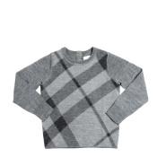 【额外7.5折】Burberry 巴宝莉 童装 经典格纹羊毛针织衫 $129(约934元)