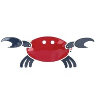 Thom Browne 经典红白蓝拼色 螃蟹手包