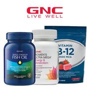 GNC 健安喜官網:精選魚油、維生素等 一律$9.99