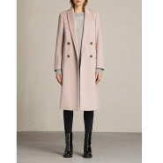 All Saints 丝羊毛长款大衣 £252(约2199元)