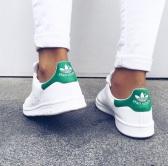 【限時好價 庫存有限!】Adidas Originals 阿迪達斯 Stan Smith 女款綠尾小白鞋