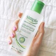 【中亚Prime会员】Simple 清妍 敏感肌可用轻柔温和不刺激卸妆水 198ml*2瓶装 每瓶到手价