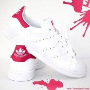 【6以上有码!】Adidas 阿迪达斯 Stan Smith 粉尾运动鞋 大童款成人可穿