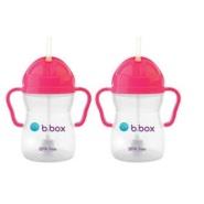 【55专享】包邮包税!B.box 婴幼儿重力球吸管杯 粉红色 240ml*2