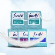 超薄无荧光剂!Facelle 卫生巾345滴水日用夜用组合装 66片