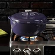 【中亚Prime会员】Lodge 洛极 EC6D93 搪瓷铸铁锅 紫色 5.6升