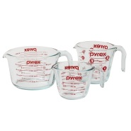 【中亚Prime会员】Pyrex 玻璃测量杯 三件套
