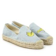 Soludos 香蕉刺绣图案草编鞋 $52.5(约380元)