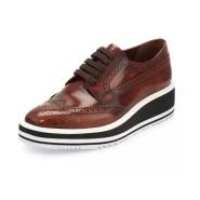 还有37.5码 Prada 普拉达 女士厚底牛津鞋 $487(约3494元)