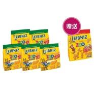 德国直邮!Leibniz 莱布尼兹动物园饼干 燕麦味 125g*6袋