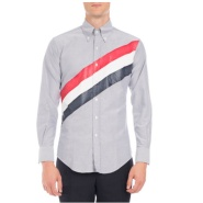 6折码全 Thom Browne 经典条纹男士牛津衬衫 $294(约2130元)