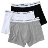 【中亚Prime会员】Calvin Klein 卡尔文·克莱恩 男士纯棉四角内裤3件装