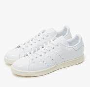 大脚福利,8.5码~adidas Stan Smith 女款纯白褶皱皮革小白鞋 $30.99(约224元)