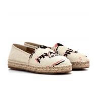 【年中大促】Prada 普拉达 logo印花草编鞋