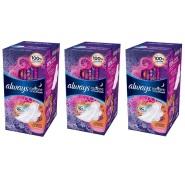 【中亚Prime会员】Always Radiant 夜用超薄护翼卫生巾 清香型 22片装*3包
