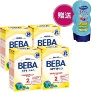 送两瓶沐浴露!Beba 雀巢贝巴婴幼儿奶粉 2+段 600g*4
