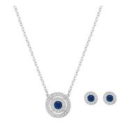 【限时高返!】Swarovski 施华洛世奇 Attract 蓝色水晶圆环项链耳钉套装