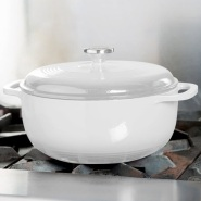 BUG价!【中亚Prime会员】Lodge 洛极 EC6D13 搪瓷铸铁锅 乳白色 6.6升