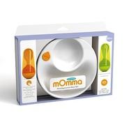 【中亚Prime会员】Lansinoh mOmma Mealtime 宝宝防滑保温碗餐具+不倒翁叉勺套装