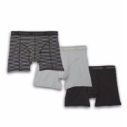 【国内1件的钱在这里可以买3件!】Calvin Klein 凯文克莱 男士平角内裤 3件装