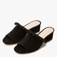 Raye Camille Slides 女款黑色低跟拖鞋 $55.99(约406元)
