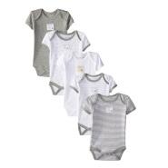 【美亚直邮】Burt's Bees Baby 100%有机棉材质婴儿爬行服连体衣 5件套