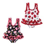 SKIPLAND 斯克莱 女童草莓印花连体游泳衣 含税价格 1420日元(约91元)