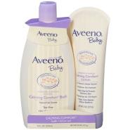 【中亚Prime会员】Aveeno 艾维诺 婴儿保湿舒缓护肤套装 沐浴露+舒缓乳液