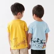 Belle Maison 千趣会 disney 迪士尼 儿童T恤 多款可选 1200日元(约72元)