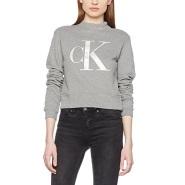 【德亚直邮】Calvin Klein Jeans 女士字母短款卫衣